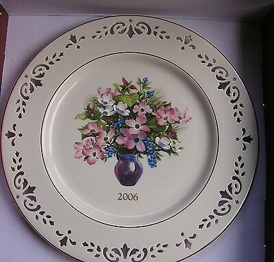 LENOX COLONIAL BOUQUET PLATE for 2006 New in Box 12th annual NORTH CAROLINA