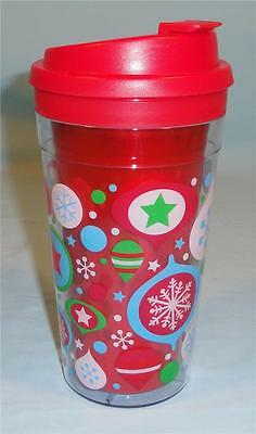 * NEW Cool Gear 15oz Christmas Insulated Water Bottle Cup with Spill Proof Lid