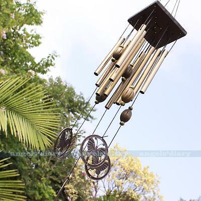 Butterfly 12 Tubes Windchime Yard Garden Outdoor Living Wind Chimes Home Decor