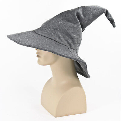 Adult Mens Hobbit Lord of the Rings Gandalf Halloween Cosplay Costume Wizard Hat