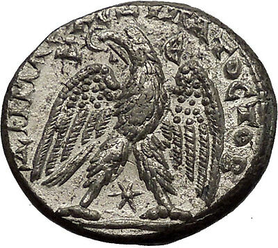 ELAGABALUS 219AD Antioch Eagle Large Authentic Ancient Silver Roman Coin i52635