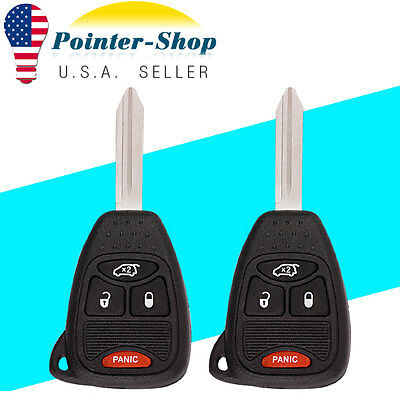 2X New Uncut Replacement Keyless Entry Remote Key Transmitter For Jeep Kobdt04a