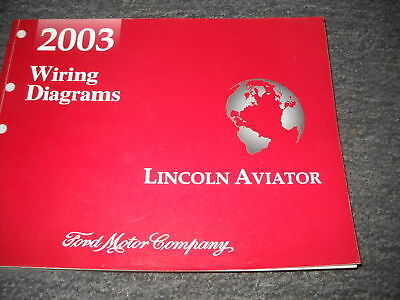 2003 Lincoln Aviator Suv Electrical Wiring Diagram Service Manual