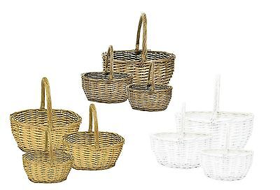 Traditional Wicker Shopping Christmas Hamper Basket Shopper Storage Display