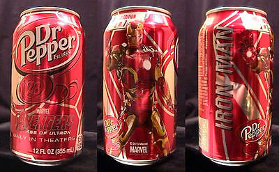 Dr Pepper Marvel Avengers Age Of Ultron Iron Man Limited Edition Can 2 Of 7