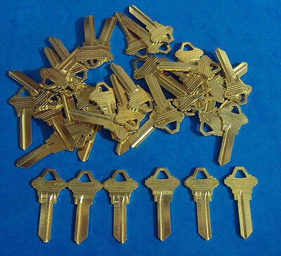 Lot Of Fifty Locksmith Brass Sc1 Key Blanks Fits Schlage  Usa Made   50