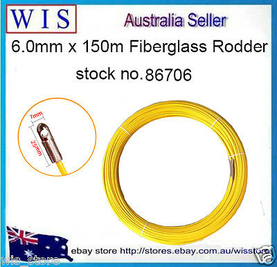 """1/4"""" Fibersnake Replacement Rodder for Fish Line & Rope Pulling,150m (L)-86706"""