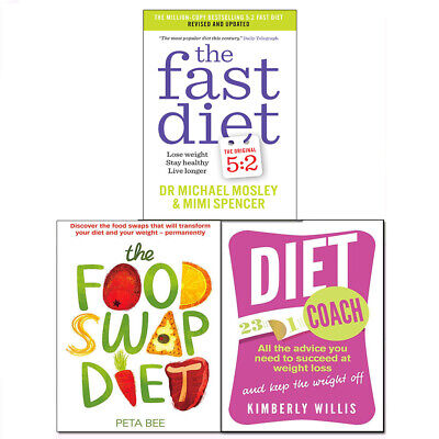 Fast Diet,Diet Coach and The Food Swap Diet 3 Books Collection Pack Set NEWBRAND