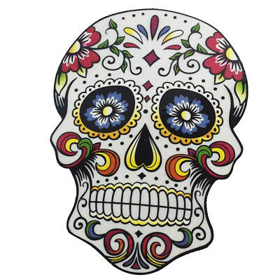 1pcs Colorful Floral Printing Skull Iron On Transfer T-shirt or Wall Sticker