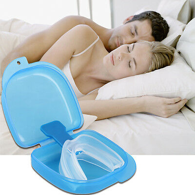 New Anti Snore Stop Snoring AID Mouth Guard Piece Sleeping Aid Apnea Relief NE