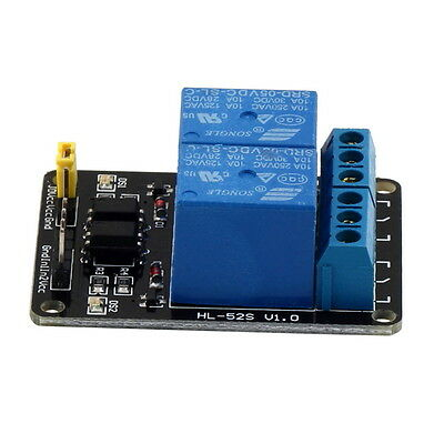 5V 2 Channel Relay Module Shield For Arduino ARM PIC AVR DSP MCU Electronic GO
