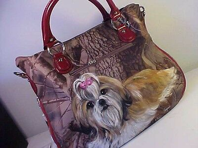 Shih Tzu Handpainted Handbag Just Beautiful!