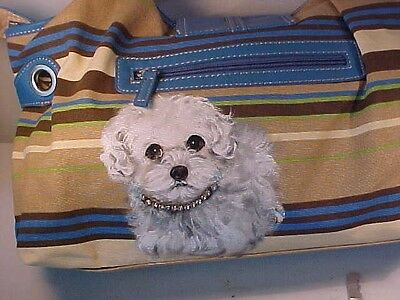 Bichon Frise Puppy Handpainted Gorgeous Handbag !!!