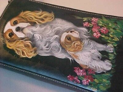Final Clearance!! Cavalier King Charles   Handpainted  Purse Sssuper