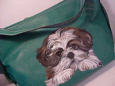 Shih Tzu Puppy Handpainted Handbag Lifelike!