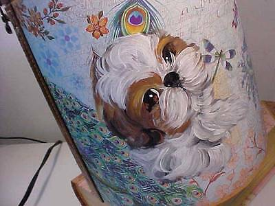 Shih Tzu Puppy Handpainted Box Beauuutiful!.