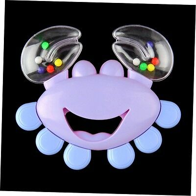 Kids Baby Crab Design Handbell Musical Instrument Jingle Shaking Rattle Toy GO