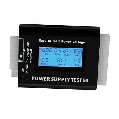 Digital LCD PC Computer PC Power Supply Tester 20/24 Pin SATA HDD Testers GO