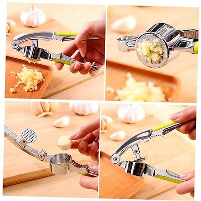 Garlic Press Hand Presser Crusher Ginger Squeezer Slicer Masher Kitchen Tool GO