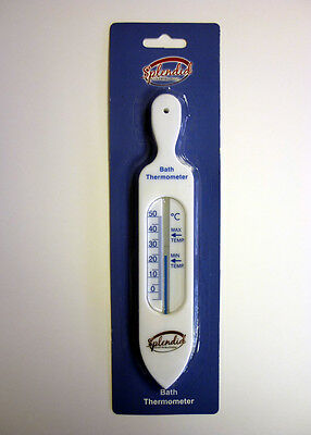 Bath Thermometer - White - Check water temp - Ideal for new