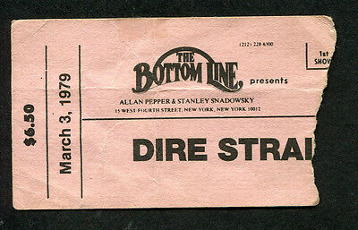 Original 1979 Dire Starits Concert Ticket Stub Bottom LIne Communique