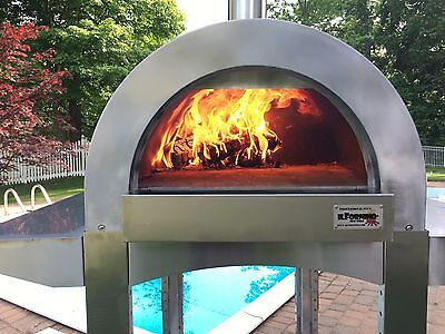 ilFornino® Professional PLUS Series Wood Fired Pizza Oven - Stainless Steel