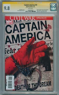 Captain America #25 Cgc 9.8 Signature Series Signed Chris Evans Civil War Movie