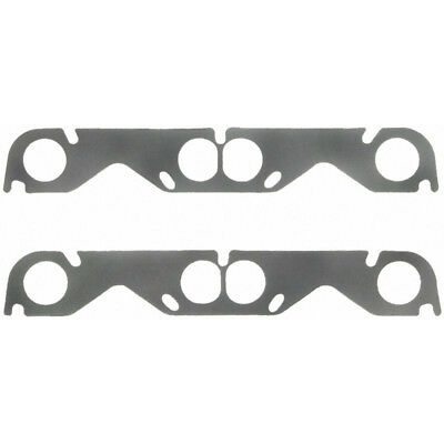Fel Pro Exhaust Manifold Gasket Set 1404; Coated Perforated Steel Core for SBC