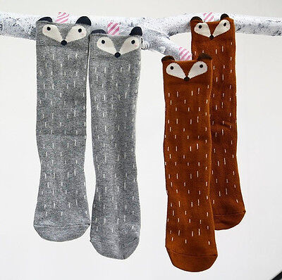 Hot Baby Children Toddlers Cute Fox Knee High Socks Tights Leg Warmer Stockings