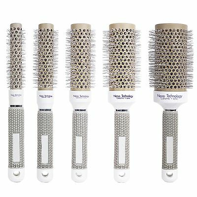 5 Sizes Ionic Round Ceramic Barber Hair Dressing Salon Styling Brush Comb Barrel