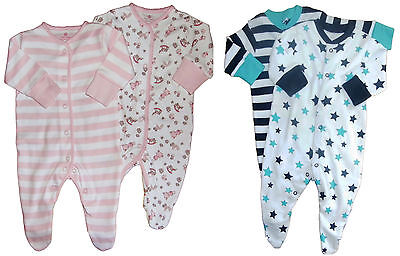 Baby Cotton Sleepsuits Boys and Girls Set of two  Exstore N*XT sizes NB-18mths