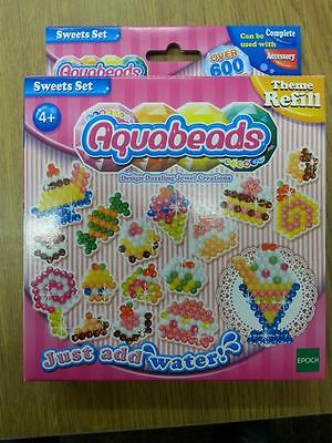 Aquabeads Just add Water - Sweet Set Refill - 600 Jewel & Solid Beads - 79148