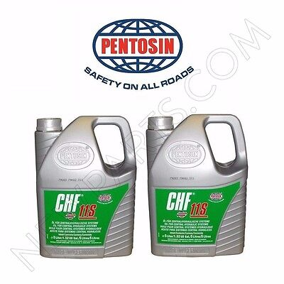 Set of 2 5-Liter Jugs Pentosin CHF11S Power Steering Fluid Hydraulic Pump Fluid