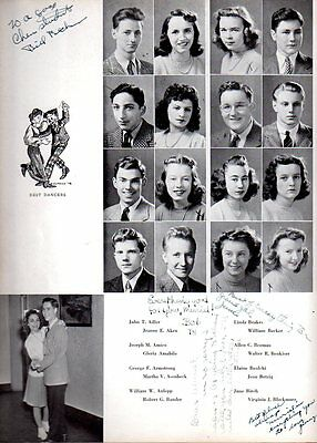 1942 Mamaroneck NY High School Yearbook~Photos~History~Football~Fencing~WWII~++