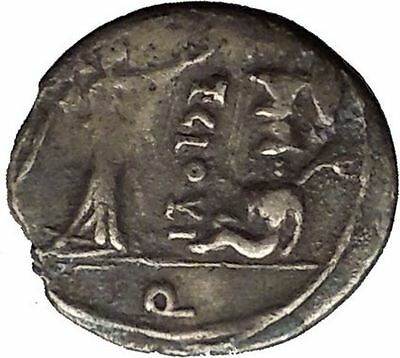 Roman Republic 98BC Jupiter Victory Trophy Ancient Quinarius Silver Coin i52654