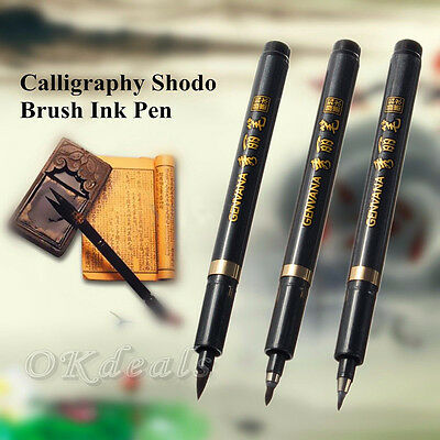 Hot Chinese Japanese Calligraphy Brush Ink Pen Writing Drawing Tool Craft S M L