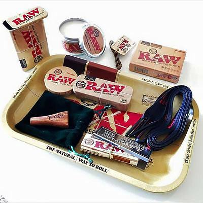 Raw Rolling papers GIFT SET - Tray,Tins,Candle,Double Barrel,Shred Case,Cards,++