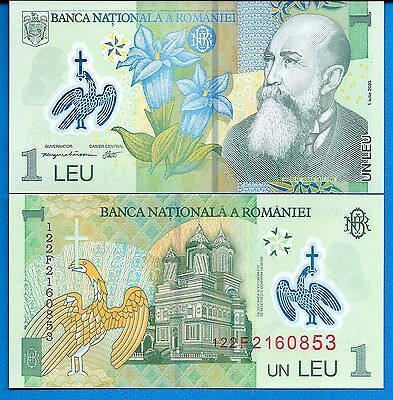 Romania P-117 1 Leu Year 2005 Uncirculated Banknote Europe