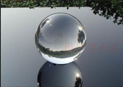 Hot  Clear Magic Crystal Healing Ball Sphere 40mm+Stand