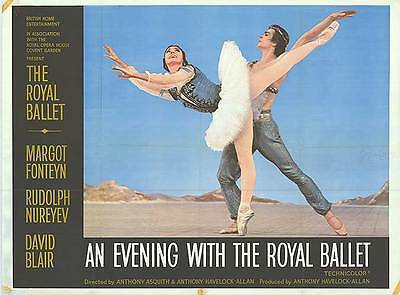 AN EVENING WITH THE ROYAL BALLET orig rare poster MARGOT FONTEYN/RUDOLPH NUREYEV