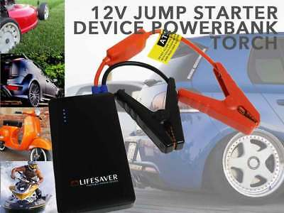 Portable CAR JUMP STARTER Power Bank Vehicle Battery Charger 12V Torch Black NEW