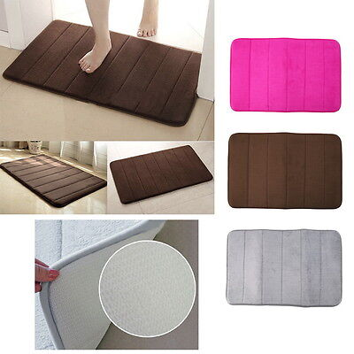 Memory Foam Bath Pad Bathroom Water Absorbent Non-slip Mats Shower Carpet GO