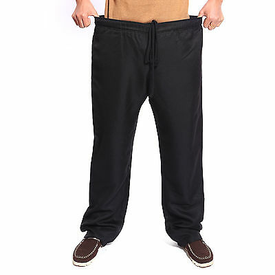 "Black Chefs Chef Catering Cooks Waiter Trousers Pants Uniform 34""-40"""