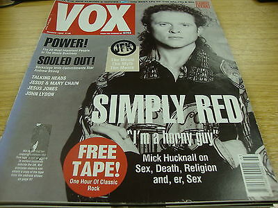 Vox Music Magazine March 1992 Issue No 18 Inc Simply Red Etc