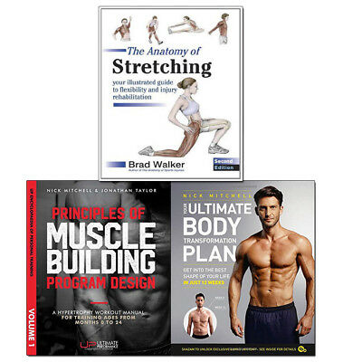 Anatomy of Stretching,Principles of Muscle 3 Books Collection Set Principles of