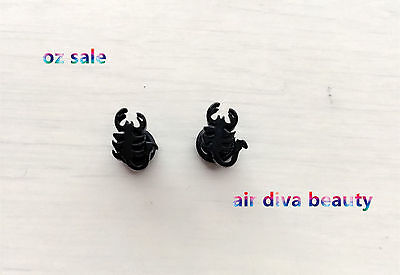 1Pair Black Scorpion Party 316L Stainless Steel Surgical Titanium Earrings Stud