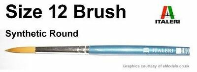 Italeri Model Tool - 12 Brush Synthetic Round - A51215 - New