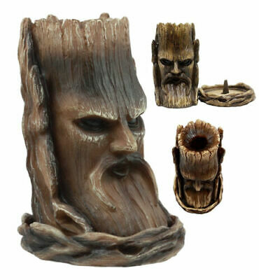 Ancient Wisdom Of The Woods Greenman Tree Man Smoking Incense Burner Figurine