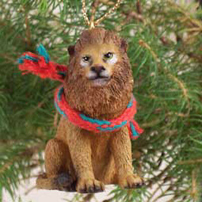 LION with Scarf Tiny One Miniature Christmas ORNAMENT