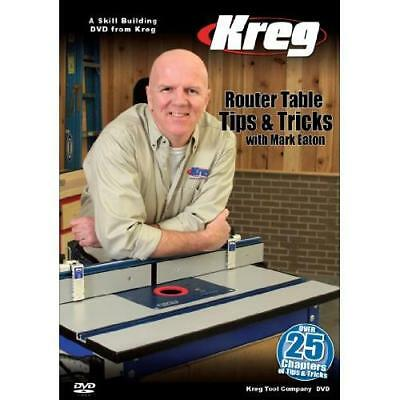 Kreg Tool Company V09-DVD Kreg DVD-Router Table Tips and Tricks with Mark New